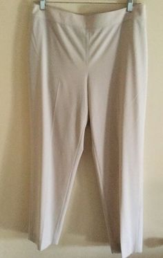 New with tags, St. John Marie Gray  Emma Knit Pants, Beige Size 12 $395  | eBay