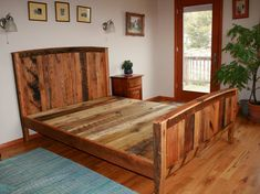 Cozy Country Bedframe from Wormy Chestnut and by BarnWoodFurniture, $1265.00