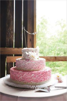 pink ombre wedding cake by  Rudy Strudel @weddingchicks