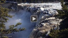 Ice river falls breaking up