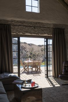 Set high on top and in between the famous Redhill Mountains with panoramic views of the Swartberg, Klipspringer is totally off the grid. Country Life, Pools, South Africa, Cape, Destinations, Cottage, Patio, London, Holidays