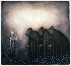 John Bauer - Nordic Myth and Fairytale Art and Illustration John Bauer, Art And Illustration, Tattoo Deus, Old Norse, Fairytale Art, Norse Mythology, German Mythology, Dark Art, Troll