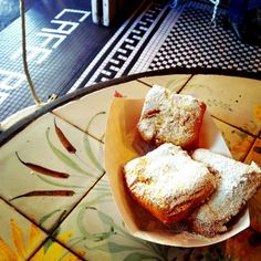 Beignet break just need to get the coffee. Cafe Beignet Royal Street French Quarter New Orleans. #beignets #beignet #neworleans #frenchquarter #nola #frenchquarterfest #coffee #coffeebreak #sweets #pastry #louisiana #frenchcafe #sugar #donuts #followyournola #royalstreet @cafebeignetnola by traveltaosuzi