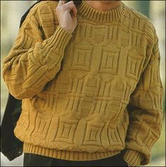 Mens Knit Sweater, Mens Turtleneck, Hand Knitted Sweaters, Fair Isle Knitting Patterns, Knitting Designs, Drops Baby, Pullover, Hand Knitting, Casual