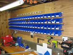 organized screws and nails woodshop - Google Search