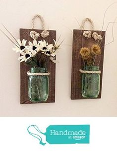 Mason Jar Wall Sconce (SET OF TWO) Hand Crafted Rustic Wall Decor Mason Jar & 20 Creative Things to Do With a Mason Jar | Pinterest | Mason jar ...