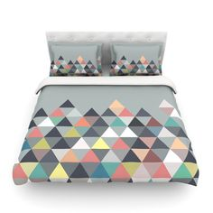 "Mareike Boehmer ""Nordic Combination"" Gray Abstract Cotton Duvet"