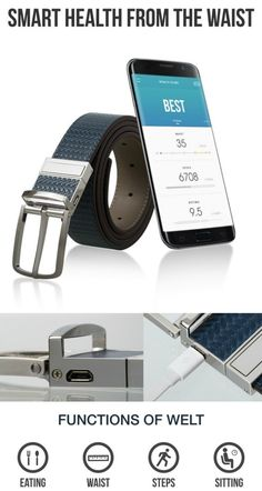 Welt is the fashionable smart belt that monitors your diet, counts your steps…