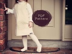 PDF Easy quilted pinafore sewing pattern by laurenceandcarmine, $6.50
