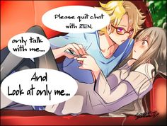 YoosungxMC @gatanii69999 twitter Dear people who comments that this is YandereYoosung...nope.