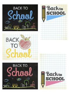Back to School printables for project life