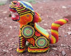 Polymer Clay Sculptures, Sculpture Clay, Mexican Jewelry, Bead Art, Sculpting, Glass Beads, Embroidery, Pattern, Ideas