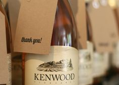Cute Way To Spruce Up A Bottle Of Wine To Give As A Thank You Or