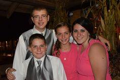 Chase, Brock, Lanie and Hannah at Crystelle Creek
