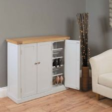 grey painted chadwick large shoe storage cupboard chadwick satin lacquered oak hidden home
