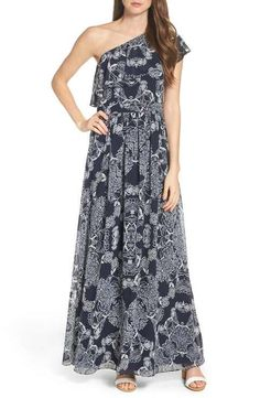 Vince Camuto One-Shoulder Maxi Dress (Regular & Petite)