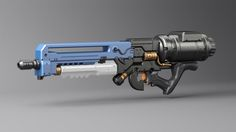 Gun, Wagner de Souza on ArtStation at… Sci Fi Weapons, Weapon Concept Art, Fantasy Weapons, Weapons Guns, Guns And Ammo, Armes Futures, Arsenal, Future Weapons, Assault Weapon