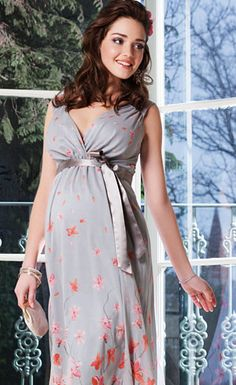 Jasmine Silk Maternity Gown Short (Peach Blossom) - Maternity Wedding Dresses, Evening Wear and Party Clothes by Tiffany Rose Maternity Dress Outfits, Stylish Maternity, Pregnancy Outfits, Maternity Wear, Maternity Fashion, Pregnancy Dress, Dresses For Pregnant Women, Pregnant Wedding Dress, Party Dresses For Women