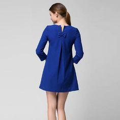 7ede2022a6 2014 New Fashion Autumn Winter Women above-knee Three-Quarter Casual Loose  Dress