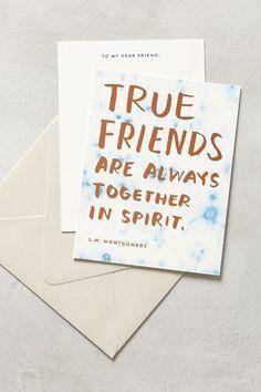 awwww Anne. True Friends Card - anthropologie.com #anthrofave