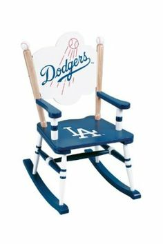 What a cute chair.  Any Dodgers fan child would love to have this for their room