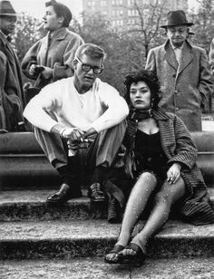 Village hipsters in Washington Square Park    Photo by Weegee, 1956