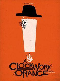 A Clockwork Orange saul bass Minimal Movie Posters, Minimal Poster, Cinema Posters, Cool Posters, Stanley Kubrick, A Clockwork Orange Movie, Saul Bass Posters, Orange Book, Alternative Movie Posters