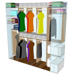 This is the side view of my closet design.