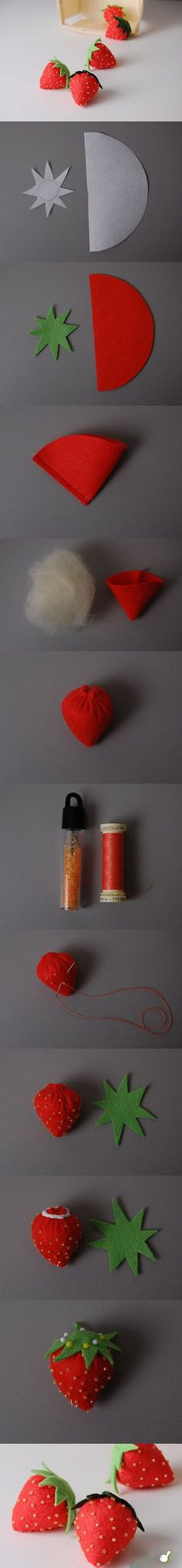 sewn strawberries how to
