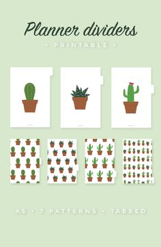 Customise your planner with these super cute 🌵 dividers! Available at Dormovitz etsy shop!