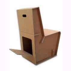 Ligera, muy resistente y funcional. Incluye espacio para almacenaje interior. Dise�ada y producida en Espa�a. 100% reciclable. Se env�a desmontada en 5 piezas. Fabricada en cart�n corrugado 9 mm espesor.-Dimensiones : Ancho 40cm Fondo 60cm altura 79cm-Peso 3.5kg.-Resistencia 120 kg-Tiempo de montaje: 5 minutos.- Acabado en blanco o marr�n.Consultar posibilidad de personalizarla con impresi�n de im�genes, logotipos, etc  enviando un mail a  info@cartonlab.com...