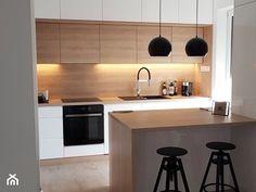 Realizacje - Średnia otwarta kuchnia jednorzędowa z wyspą, styl nowoczesny - zdjęcie od HOSTA MEBLE