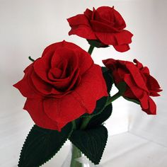 Handmade Wool Felt Roses