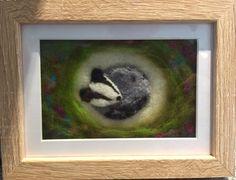 Needle felted picture badger #badger #needlefelt #handmade   https://www.facebook.com/whatktdidnextMCR