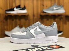 66f6ed88a06 Nike Air Force 1 LO White Wolf Grey AQ4134-101 Men s Casual Shoes  aQ4134- 101
