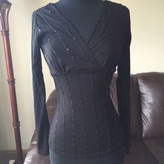 Shirt Black long sleeve shirt Tops Tees - Long Sleeve