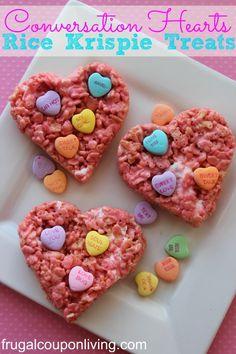 Conversation Hearts Valentine Rice Krispie Treats – Valentine Dessert #recipe #valentine #ricekrispietreats http://www.frugalcouponliving.com/2014/01/11/conversation-hearts-valentine-rice-krispie-treats-valentine-dessert/