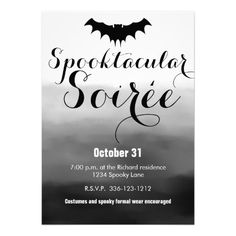 Vintage vampire bat halloween invitation halloween invitations vintage vampire bat halloween invitation halloween invitations bats and vintage stopboris Images