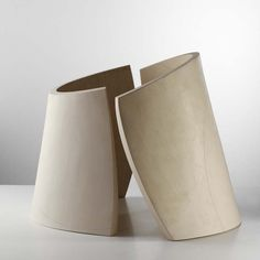 Frances Priest.  Broken Ellipse Series i. Ceramic, oxide inlay 48x61cms 2003.