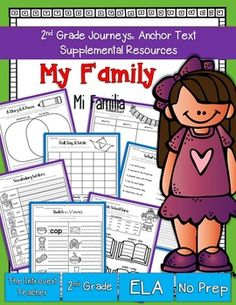 This packet has everything you'll need to enhance your instruction for My Family/Mi Familia with NO PREP(2nd Grade Journeys Reading Series Unit 1, Lesson 2). These resources meet Common Core State Standards and keep students engaged and having fun! Perfect for the busy teacher!SAVE BIG!