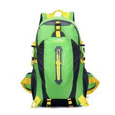 40L Waterproof Nylon Unisex Travel Hiking Backpack