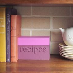 Making this simple recipe box as a house warming gift, or to keep your own favorite food ideas.