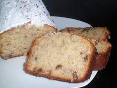Bizcocho de plátano y nueces. Receta (recipe, recipe), comida (food, food)