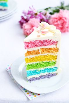 rainbow cake - maybe for a Noah's Ark baby shower?!!