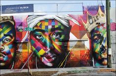 "Art Basel Miami - Eduardo Kobra ""Tupac and Biggie street art tribute"" Kobra Street Art, Grafitti Street, Street Mural, Graffiti Art, Urban Graffiti, Best Street Art, Amazing Street Art, Urbane Kunst, Herve"