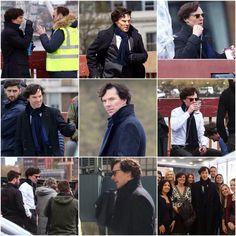 Benedict filming Series 4 (setlock)