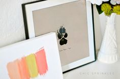 Some dog art projects are a little too cutesy for me, but I'm into this paw print!