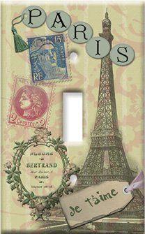 Paris Je T'aime Switch Plate – Single Toggle Paris Themed Bedroom Decor, Paris Wall Decor, Bedroom Themes, Paris Bedroom, Bedroom Inspo, Bedroom Ideas, Switch Plate Covers, Light Switch Plates, Cool Walls