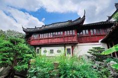 塔の古い建築と庭上海 photo