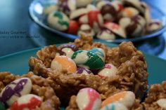 Peanut Butter Caramel Chewy Easter Egg Nests by Jazzy Gourmet